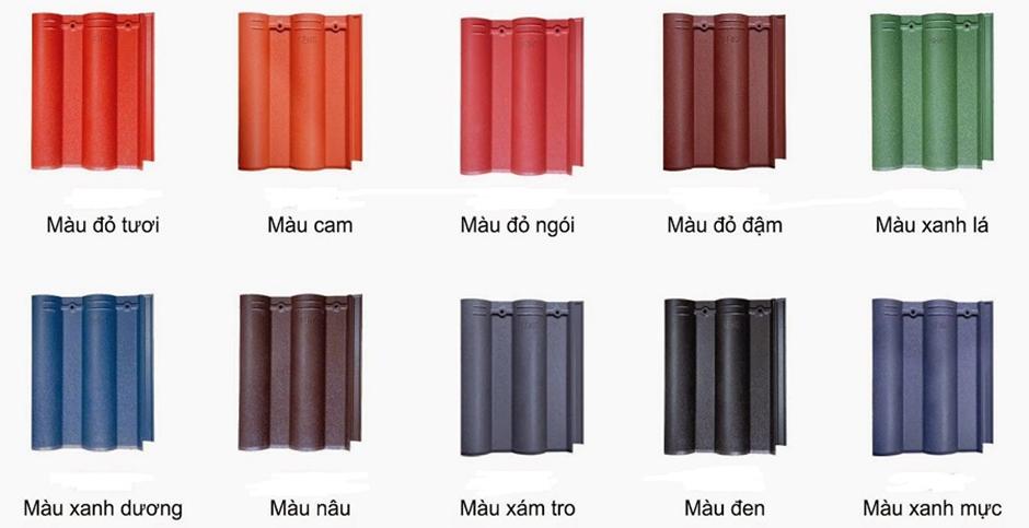 Ngói Thái có màu sắc và kiểu dáng khác nhau để khách hàng tùy ý lựa chọn.