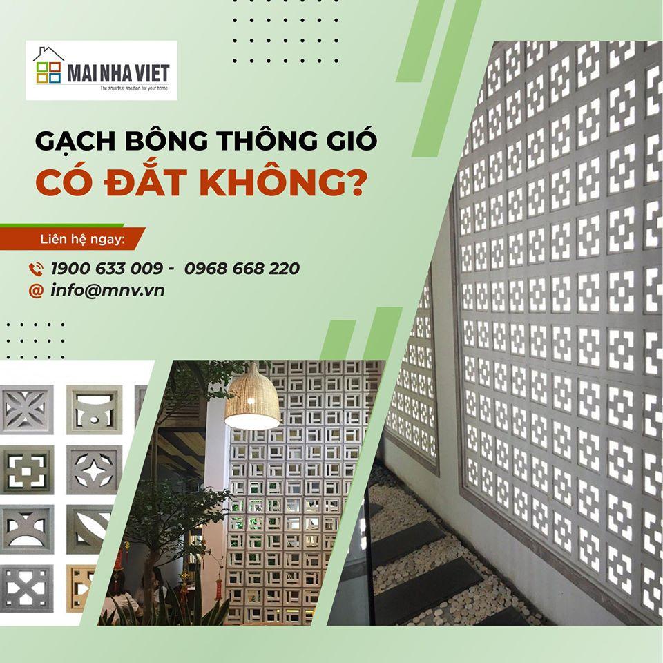 Bảng báo giá gạch bông thông gió mới nhất tại Mái Nhà Việt