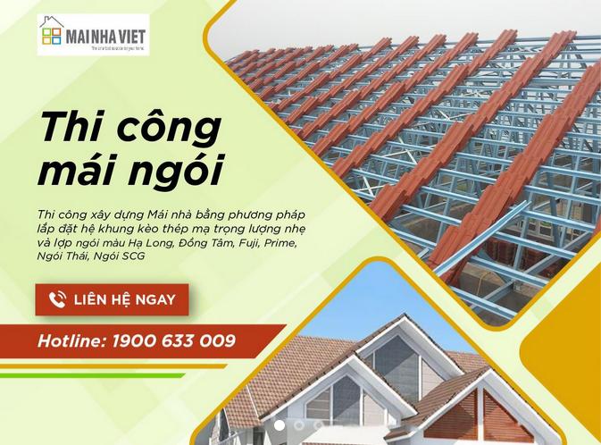 Mái Nhà Việt chuyên thi công ngói lợp Prime giá ưu đãi