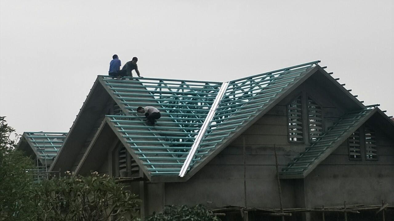 Khung kèo mái lợp Hà Nội gồm 3 loại kết cấu khung thép làm mái