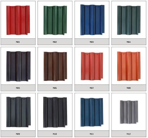 Ngói Nakamura đa dạng màu sắc